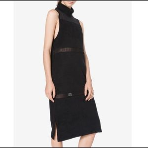ADIDAS Stretch French Terry Sheer Panel Dress Sz M